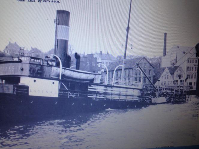 Skipet som lå  på Vågentrappene