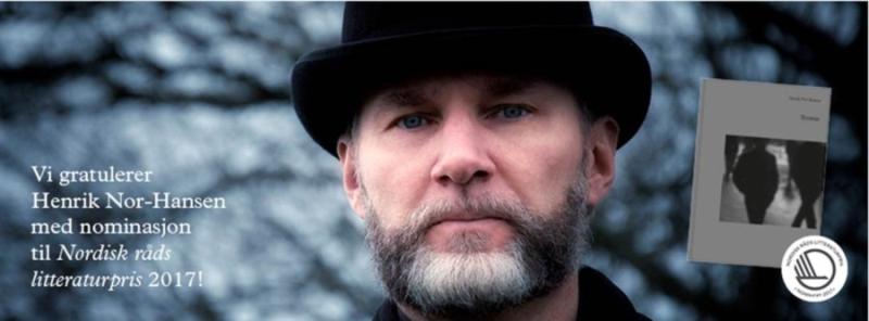 Henrik Nor-Hansen er nominert til Nordisk Råds litteraturpris